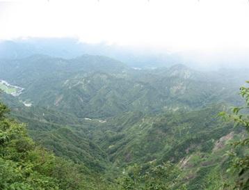 山々の風景
