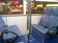 新型低床ノンステップバスの座席
