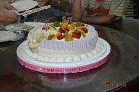 誕生ケーキはフルーツケーキ