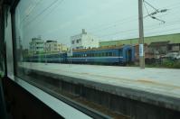 九曲堂に留置中の旧型客車