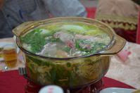 台南結婚式の鯛と烏骨鶏の鍋