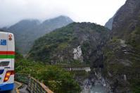 タロコ渓谷の燕子口から上流を見る