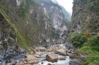 タロコ渓谷の燕子口全景