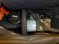大型カメラバッグにデジイチキット入れたところ
