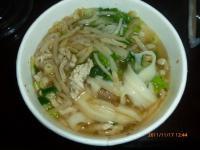 刀削搾菜肉絲麺
