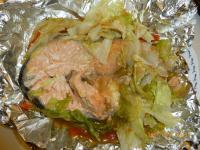 鮭のキャベツちゃんちゃん焼き