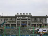 宜蘭後站駅前ロータリーは工事中