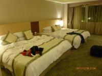 富野溫泉休會館の4人部屋ベッド