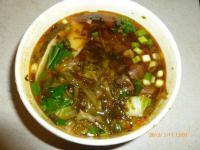 酸菜たっぷりの刀削牛肉麺