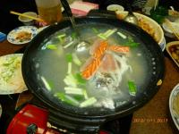 いつもの海鮮店の魚ショウガスープ