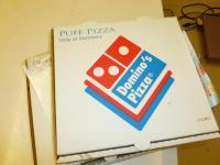 DOMINO方PUFF比薩の箱