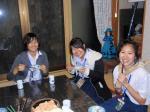 タイの少女大福を食べる