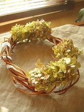 紫陽花リース