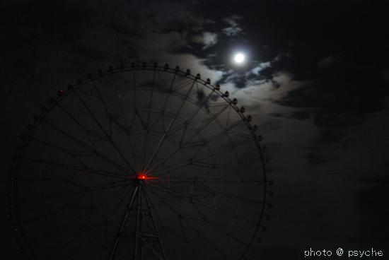 月夜の観覧車