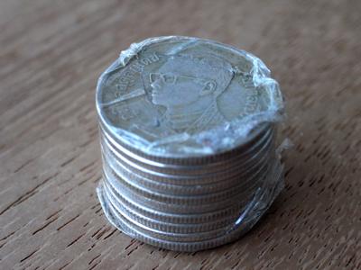 1 baht coins