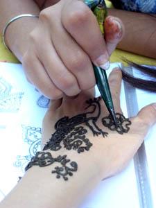 hena painting