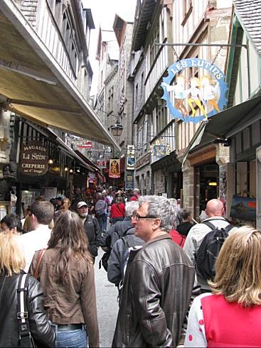 Alley in mont saint michel