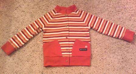 赤マルチストライプジャケット