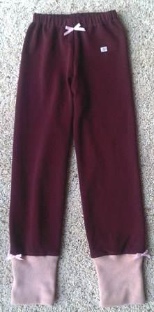 purple leggins 128 cm