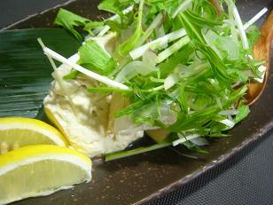 香味野菜と豆腐