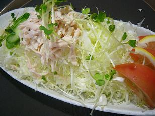 キャベツと蒸し鶏3 (1)
