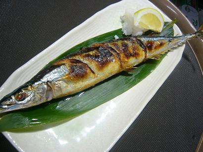 サンマ塩焼き2 (2)小