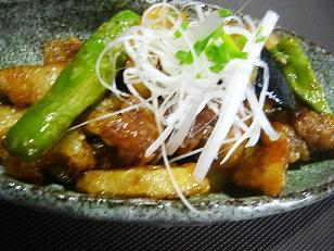 豚肉とレンコンの甘酢和え (1)