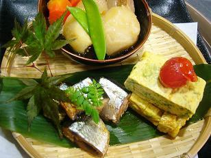 黒糖肉Gわけぎ玉子サンマ旨煮 (1)