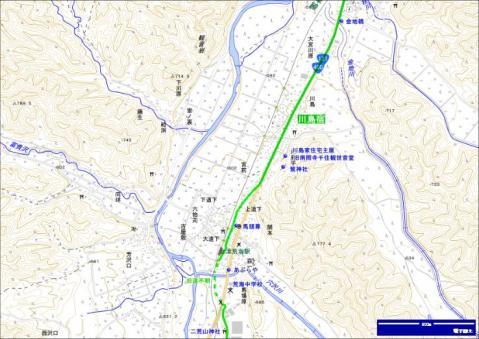 会津西街道 川島宿