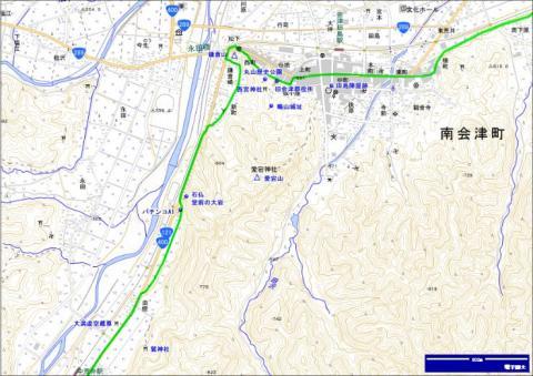 会津西街道 油燈・永田堂前・新町・鎌倉崎