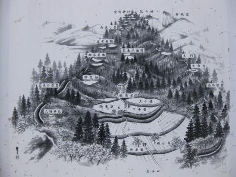 鴫山城址図