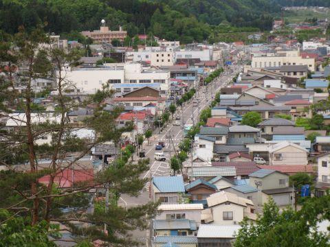 田島宿遠望