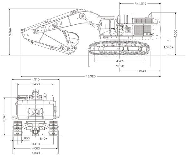 CAT油圧ショベル(標準型・374D L)
