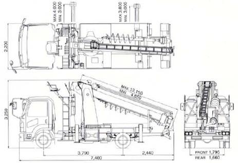 TADANO穴掘建柱車(DT-720・ポールセッター)