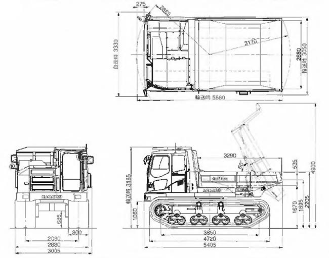 コマツ不整地運搬車(クローラダンプ・CD110R-2)