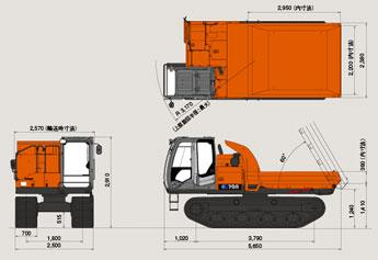 日立 クローラキャリア EG70R (3)