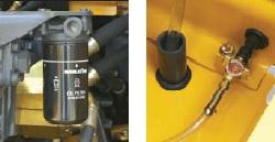 エンジンオイルフィルタ&燃料ドレンコック