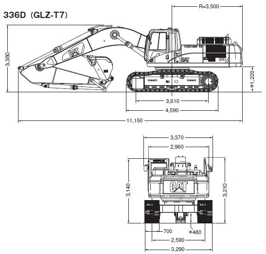 CAT油圧ショベル(336D・336D L)