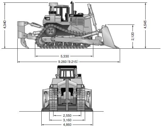 CATブルドーザー乾地車(D10T・リッパ付)