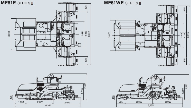 CATアスファルトフィニッシャー(クローラ式・MF61E SERIES II(TV/V))