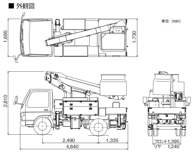 TADANOスカイボーイ通信工事用(トラック式・AT-110TTE)