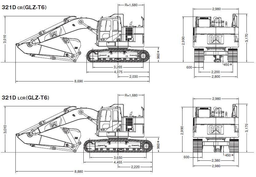 CAT油圧ショベル(後方超小旋回機321D CR・321D LCR)