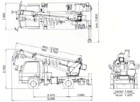 TADANO穴掘建柱車(DT-620)