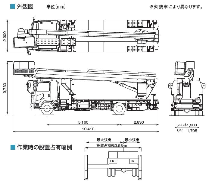 TADANOスカイボーイ一般工事用(トラック式・AT-320TG)