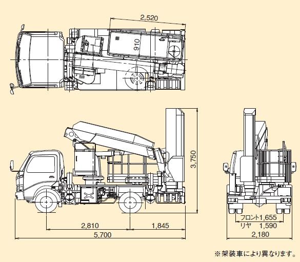 TADANOブリッジチェッカー(高架道路・橋梁点検車BT-110)
