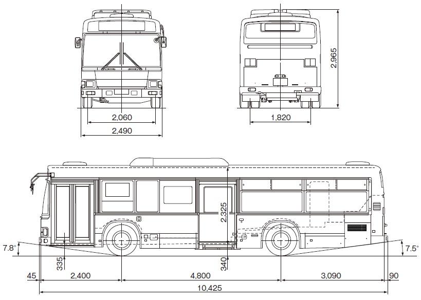 日野自動車ブルーリボンII(路線バス・ノンステップ)