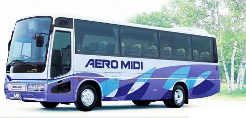 三菱ふそうエアロミディ(MK観光バス)