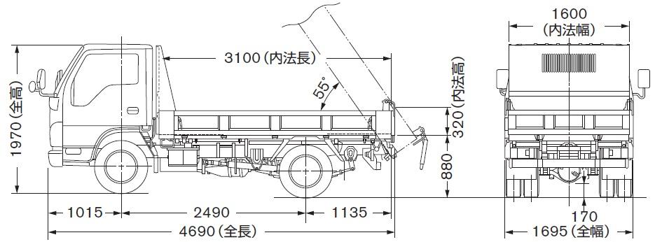 日産アトラスH43(ダンプ)