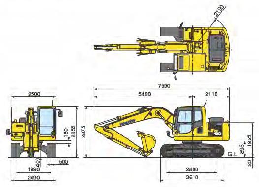 コマツ油圧ショベル(PC130-8)