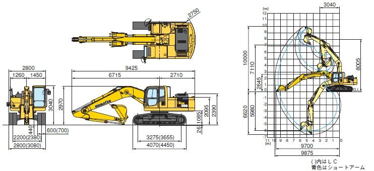 コマツ油圧ショベル標準(PC200(LC)-8N1/PC210(LC)-8N1)